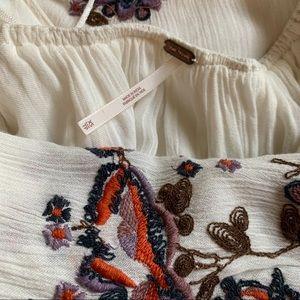 Free People Dresses - Free People Oxford Embroidered Mini Dress